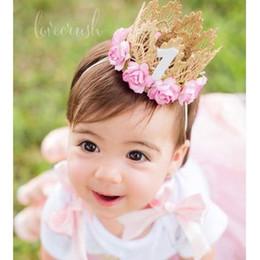 2019 розовая корона Бледно-розовый день рождения Корона оголовье для День Рождения Золотая Корона оголовье для волос аксессуары 1 шт. дешево розовая корона
