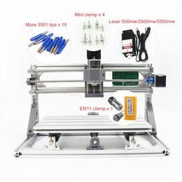Wholesale cnc mini mills - DIY Mini CNC 3018 PRO 500mw 2500mw 5500mw Laser Head Part Mini CNC Machine Pcb Milling Router Carving Machine