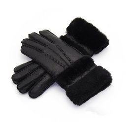 Wholesale White Leather Mittens - Women High Quality Leather Gloves Women Wool Gloves Free Shipping Quality Assurance