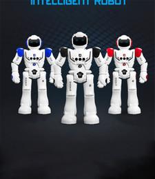 Wholesale Red Developments - Remote control intelligent mechanical war police robot hand gesture programming to recharge children's intelligence development toys