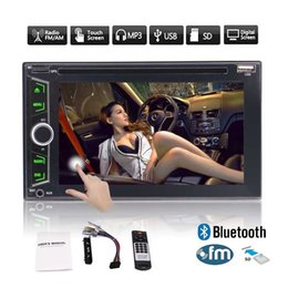 Wholesale Maps Navigator - Stereo CD Car DVD Player 6.2''Double Din In Dash Car Radio Video Multimedia Player Navigator Bluetooth GPS Navigation System Remote&Map Card