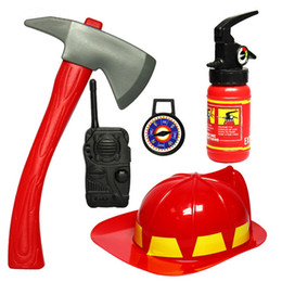 Wholesale Brave Cosplay - Fireman Toy 1Set Children Kids Pretend Play Toys Brave Little Fireman Cosplay Games Educational Toy For Boys Gift