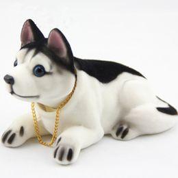 Shepherd Dog araba omaments için OHANEE lüks başını sallayarak köpek kafası oyuncak usky beagle araba dekorasyon otomobil aksesuarları sallamak nereden