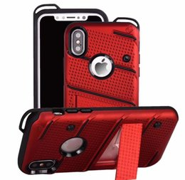 2019 red de red Phantom Series 2in1 Estuche híbrido para LG Stylo4 Stylo 4 Stylus 3 2 LG G7 K10 K8 Defender Grid Net Holder Rugged Luxury Hard PC + TPU Cubierta del teléfono