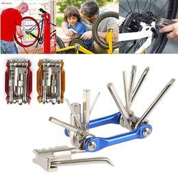 Wholesale breaks bike - 4colors 11 In 1 Multi-Function Bike Repair Tool Mechanic Kit with Chain Break Wrench Chain Cutter Repair Tools Set Kit FFA439