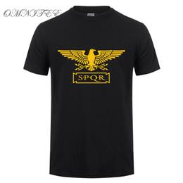 Wholesale Animal Empire - New Summer Fashion Roman Empire T Shirts Men SPQR T Shirt Tops Cotton Short Sleeve Eagle banner T-shirt Tee