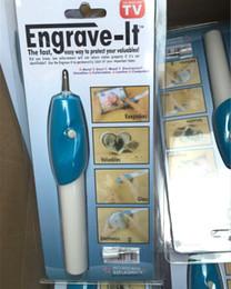 Bolígrafo eléctrico online-Mini Grabado Pluma Grabado eléctrico rotulación pintura pintura pluma cepillo de talla con 1 cabeza redonda Máquina Grave Tool