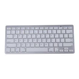 Wholesale thinnest ipad keyboard - MCSAITE 450 Ultra Thin Portable Standard 78-Key Wireless Bluetooth Keyboard for Ipad Iphone MAC PC (Silver)