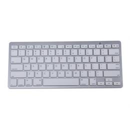 Wholesale Iphone Ipad Bluetooth - MCSAITE 450 Ultra Thin Portable Standard 78-Key Wireless Bluetooth Keyboard for Ipad Iphone MAC PC (Silver)