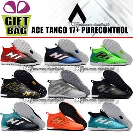 Wholesale ivory color heels - Mens Original Laceless Indoor Soccer Boots High Top ACE 17 Tango Purecontrol IC TF Soccer Cleats Turf ACE Pure Control Football Shoes