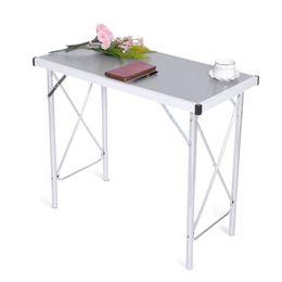 Aluminium-tisch tisch online-Aluminiumlegierungs-faltender Campingtisch-Laptop-Bett-Schreibtisch-justierbare Tabellen BBQ-tragbarer Regen-Beweis Laptop-Schreibtisch für Picknick / Arbeit NB