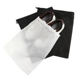deposito di scarti di polvere Sconti Scarpe non tessute Borse con coulisse Borsa da viaggio per il viaggio Scarpe Tote antipolvere Zaini neri bianchi B11