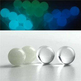 Wholesale new stainless - New Luminous Glowing 8mm Quartz Terp Pearl Ball Insert with Glass Stainless Steel Terp Top Pearls for L XL XXL Quartz Banger Nail
