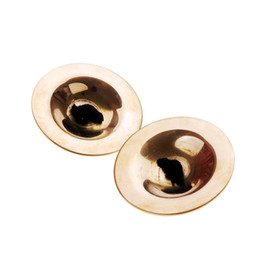 Instrumentos de dedo online-Venta al por mayor 5X Dancing del vientre Gold Finger Cymbals Musical Instrument