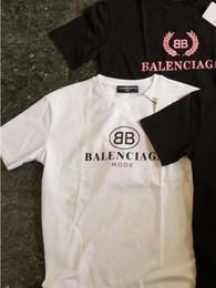 Wholesale Shirts Brands Logo - Men T shirt Brand BB MODE logo Letter Printed T-shirt Short Sleeve Men women Hip Hop Street Style Tops Tee Shirt Homme
