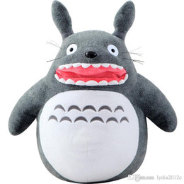 Wholesale Plush Pillow Totoro - 2018 Kids Plush Toys New Neighbour Totoro Galesaur Pattern Lovely Dolls Cartoon Characters High Quality Pillow Toys KLW1208