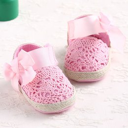 2019 robes mary jane Nouveau Sweet Belle Bébé Fille Princesse Grand Arc Infant Toddler Mary Jane Ballet Dress Premiers Marcheurs Chaussures Crib Babe Chaussures robes mary jane pas cher