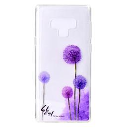 2019 decoraciones de teléfonos móviles Cubierta suave transparente de TPU para Samsung Galaxy Note 9 Color del caso decoración torre de la bicicleta Butterfly Girl diseño del teléfono móvil decoraciones de teléfonos móviles baratos