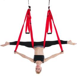 2019 literie à carreaux bleus Vente chaude Anti-Gravity Yoga hamac Parachute Tissu Traction Volante Hanging Swing 11 choix disponibles Meubles Hamac