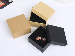 Wholesale Wholesale Cardboard Gift Boxes - 7*7*3cm Gift Kraft Box Jewelry Boxes Blank Package Carry Case Cardboard GA55