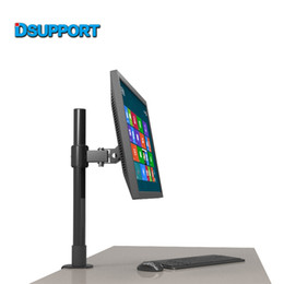 "Wholesale Tv Lifts - LK250 40 60 Full Rotation Monitor Holder Top Selling 10-22"" LCD TV Desktop Mount Free Lifting Table Clamping Mount"