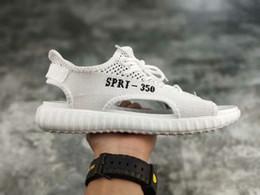 Wholesale black lace up gladiator heels - 2018 New Men SPRT 350 V2 Sandals Triple White Black Grey Orange Sport V1 Kanye West Sandal Shoes