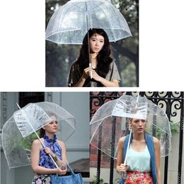 Wholesale Cute Decor - Bubble Deep Dome Umbrella Big Clear Cute Bubble Umbrellas Gossip Girl Wind Resistance Umbrellas Women Umbrellas Wedding Decor YW375