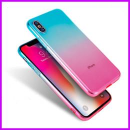 2019 housses en silicium pour cellule Téléphone de luxe Cas Flash Phone Case Dégradé Monochrome TPU Souple En Silicone Couverture Arrière Cas de Téléphone portable Pour IPhone X 8 7 6 MPS12 housses en silicium pour cellule pas cher