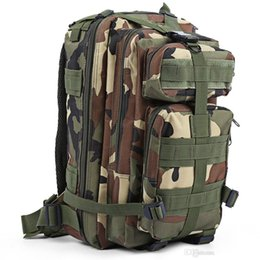 wholesale-Men Women Outdoor Military Army Tactical Backpack Trekking Sport  Travel Rucksacks Camping Hiking Trekking Camouflage Bag e2804141587a2