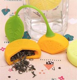 Wholesale teabag strainer - Teapot Tea Strainer Silicone Lemon Shape Teabag Tea Leaf Strainer Infuser Teapot Teacup Filter Bag Lemon Style Filter Tools