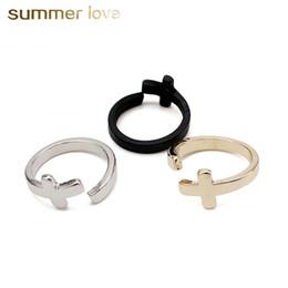 58945e570bb недорого мужское золотое кольцо Скидка Оптовая регулируемый размер крест  открытые кольца для мужчин женщин серебро золото