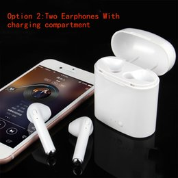 Wholesale Iphone S Cell - 2018 New HBQ I7S Wireless Earphone Bluetooth Headset In-Ear Earbud with Mic for iPhone 8 7 plus 7 6 6s 5s for S