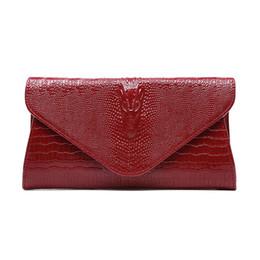 2018 femmes sacs d'embrayage vintage vache en cuir motif crocodile enveloppe enveloppe épaule dames petit messager sac à main cadeau féminin ? partir de fabricateur