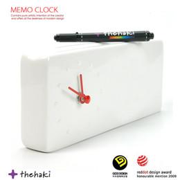 Messaggio di memo online-1Piece Trace of time clock Memo Desk Clock Tabella dei messaggi personali Tabella How Decor