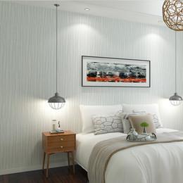 Graues Schlafzimmer Tapete Rabatt Walltalk Contracted Strip Wallpapers Line  Heimwerker Wohnzimmer Schlafzimmer Wand Papierrolle Grau Blau