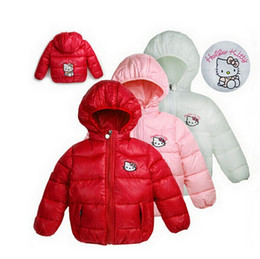 a46ae4876 2016 New Baby Warm Clothes 4 Color girls winter Hello Kitty Jacket Children  Casual Hooded Vest Kids Windbreaker Coats