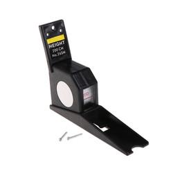 Medidor de regla online-1pc 200cm Stadiometer Negro montado en la pared Medidor de altura Regla de crecimiento CM métrica