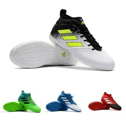 Wholesale best indoor soccer shoes - 2018 Adidas ACE 17.3 Primemesh TF Best indoor soccer shoes football boots high top mens High Training soccer cleats