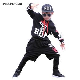 Wholesale Hip Hop Suits Girls - PENGPENGNIU Boys Hip Hop Outfit Kids Street Dance Costume Girls 3 Piece Clothing Set for Autumn Winter 2017 Girls Dancing Suit