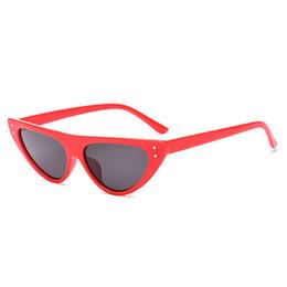 3aa643ed63 Retro Cat Eye Sunglasses For Women Small Designer Shade Triangle Eyeglasses  Vintage Cateye Sun Glasses Female UV400