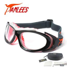 b285f31c7af9 Panlees sports design Soccer Basketball Football Prescription optical  lenses Men Women elastic band strap safety Goggles