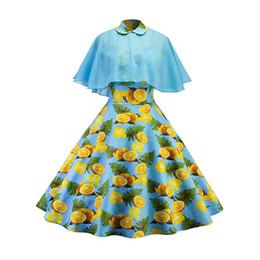 Новые женские случайные партии цветочный плащ качели платье без бретелек с шалью старинные 50-х 60-х годов S-XXL темно-синий светло-синий платья падение корабль от
