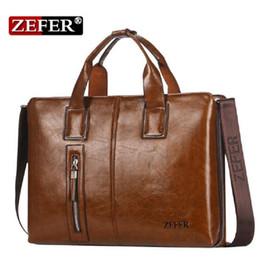 Wholesale Zefer Business Bags - Wholesale- New ZEFER Brand NEW 2016 Handbags Fashion Versatile Composite Leather Zefer Male Business Bag Briefcase Men Shoulder Bags