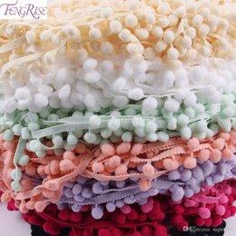 Кружево для ткани онлайн-Кружевная ткань 5 Ярд 1 см швейные аксессуары помпон отделка Пом Пом украшения кисточкой мяч бахрома Лента DIY материал