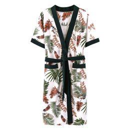 Vestido de noche de verano, bata, bata de algodón, una pieza de algodón, una pieza, albornoz, sección delgada de algodón, ropa de hogar, pijamas de kimono desde fabricantes
