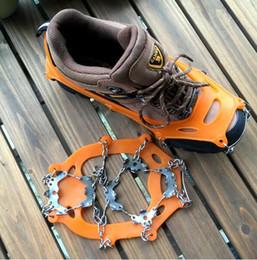 Canada Crampons à 19 dents Bottes de neige universelles antidérapantes Spikes Grips Crampons Crampons d'hiver Chaussures antidérapantes pour la randonnée cheap ice anti slip Offre