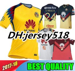 Wholesale Club America White Jersey - 17 18 Top thai quality LIGA MX Club America soccer Jerseys 2017 2018 SAMBUEZA Camisetas O.Peralta American football shirts