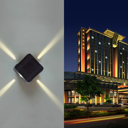 Wholesale Cross Wall Light - Interior Hotel Courtyard Outdoor Waterproof Wall Led Cross Starlight Exterior Wall Decoration Project Background Light