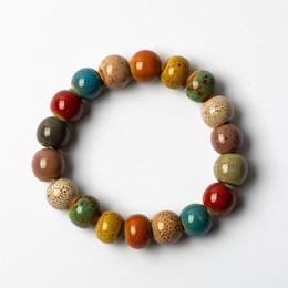 fazendo pulseiras contas de cerâmica Desconto Contas de cerâmica colorida pulseiras feitas à mão diy artware pulseira retro jóias atacado # fy361