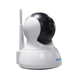 ESCAM QF007 Смарт-камера 1/4 дюйма PTZ WiFi IP-камера 10 м ИК-расстояние CMOS-датчик Оповещения по электронной почте Беспроводная IP-камера cheap escam ip camera от Поставщики escam ip camera